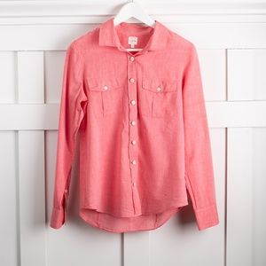 J. Crew Voile Camp Shirt Perfect Fit size S
